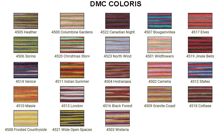 Carta Colores DMC COLORIS